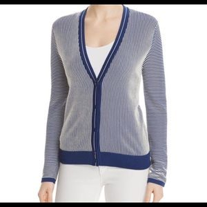 Tory Burch Kara Cardigan Large Blue
